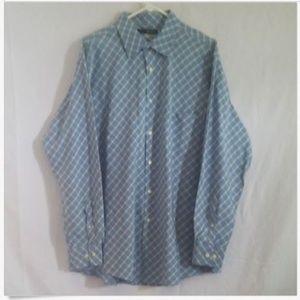 Greg Norman Checked Golf Shirt Size XL